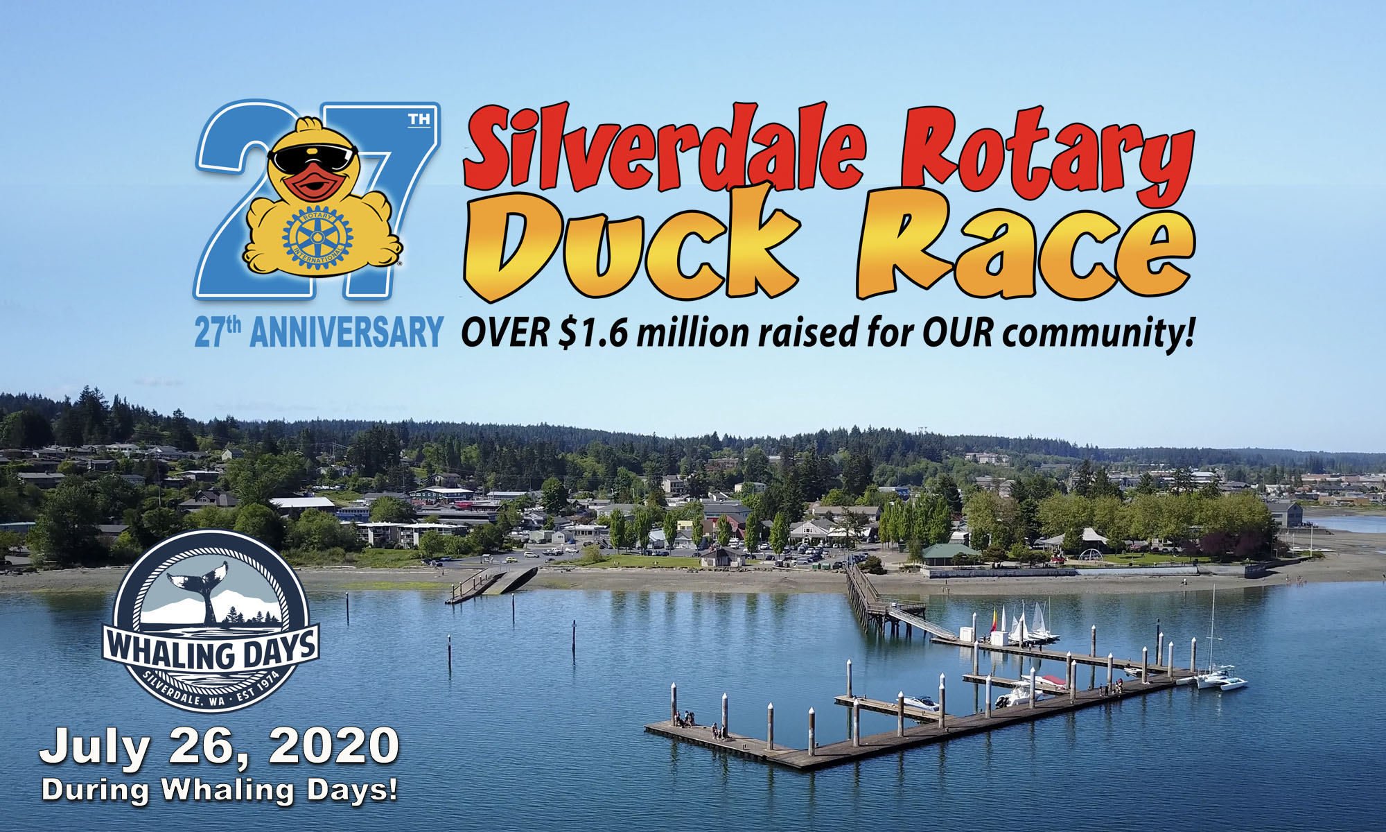 Silverdale Rotary Club Duck Race | Over $1.5 Million Raised
